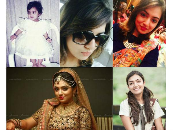 Actress Nazriya Nazim Family Photos Photos Nazriya Nazim Then And
