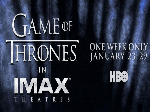 'Game of Thrones' First TV Series To Get Theatrical Release