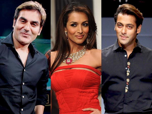 Arbaaz Khan Malaika Arora Khan and Salman Khan