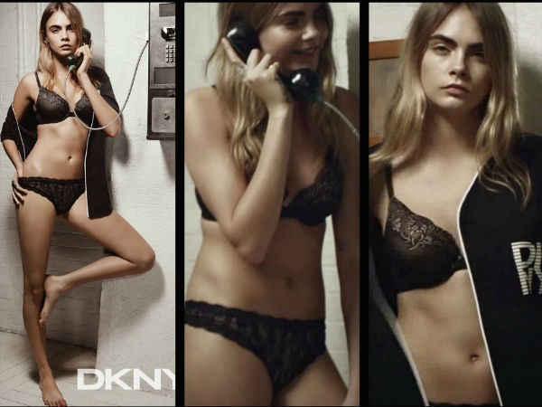 Cara Delevingne's Hot Ad Shoot For DKNY
