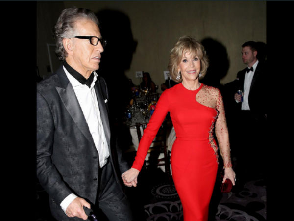 Jane Fonda's Beau, Richard Perry Fainted At Golden Globes!