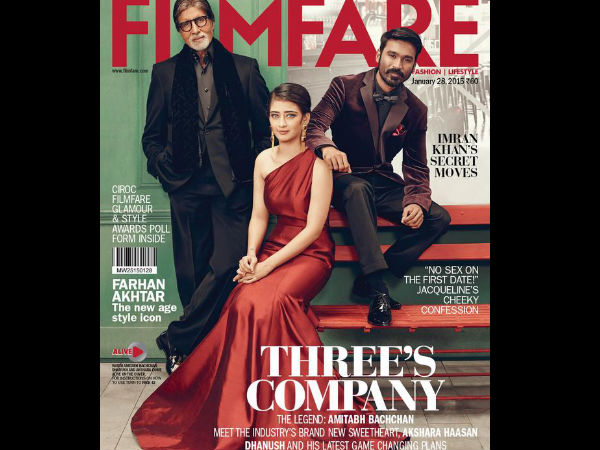 PIX: Shamitabh Cast Rocks Filmfare January Cover