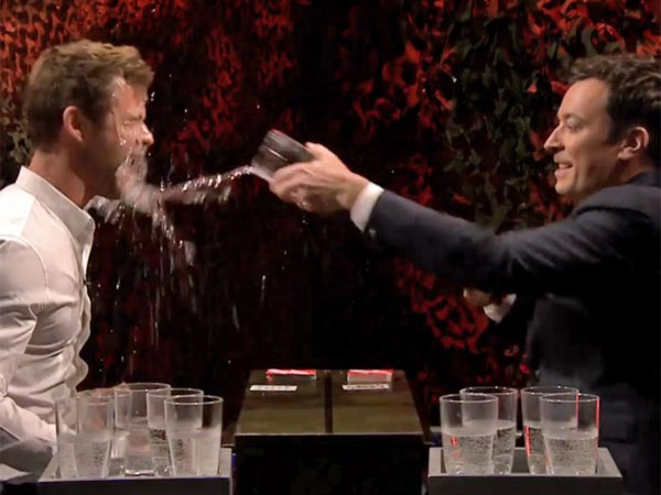 Jimmy Fallon Chris Hemsworth Water War