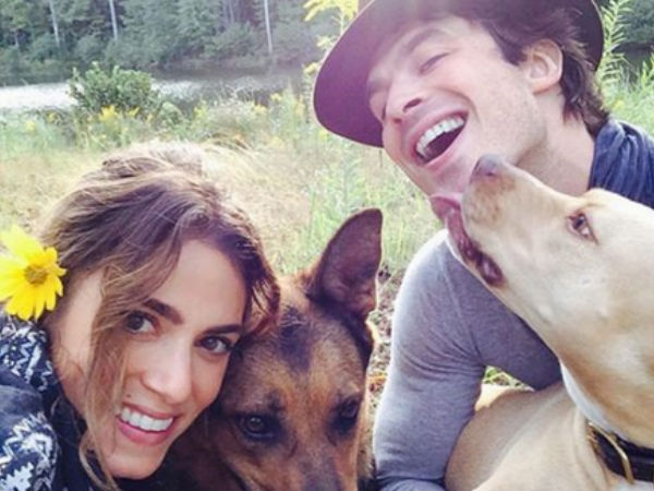 Ian Somerhalder and Nikki Reed Pets