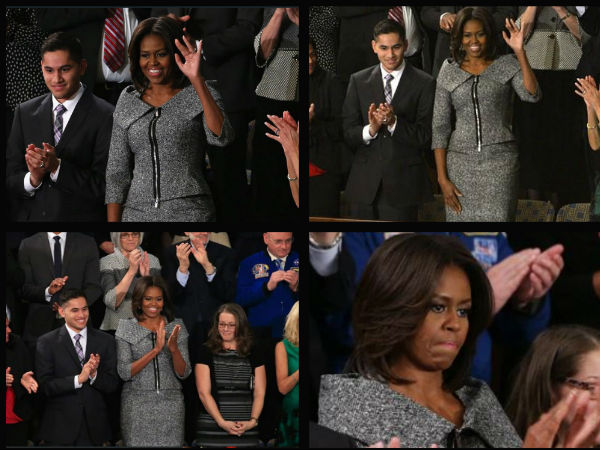 Michelle Obama Michael Kors Suit At At State of Union Address