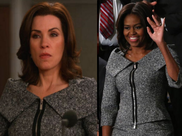Michelle Obama Copy Alicia Florrick: State of Union Address