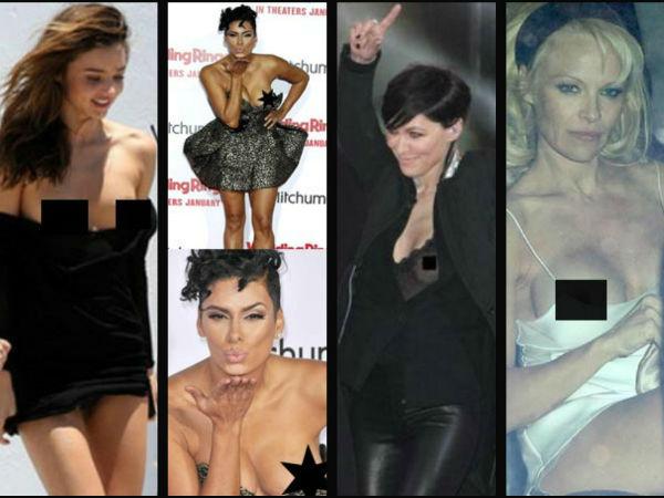 Hot Celebrities Nip Slips