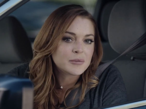 Lindsay Lohan's Funny Super Bowl Car Ad For 'Esurance'