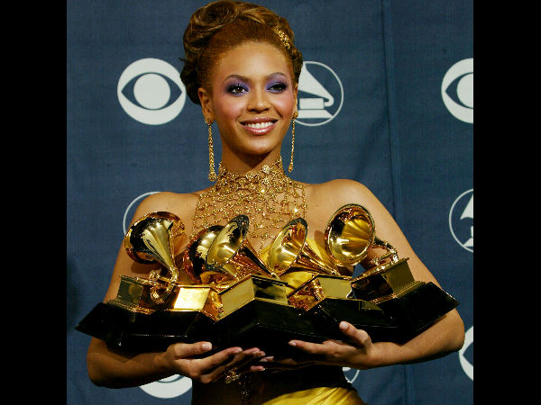 Most Grammys won in one night (Female)