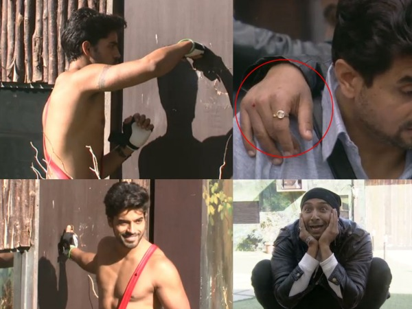 Gautam Hurts His Hand