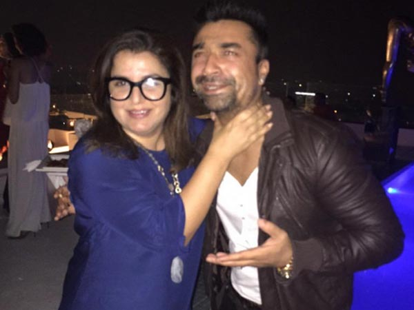 Ajaz Khan With Farah Khan