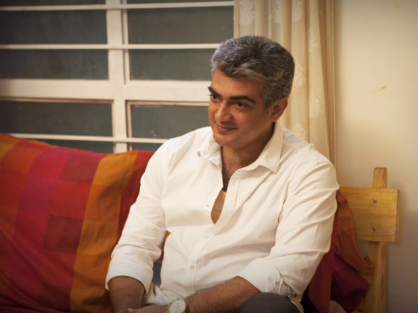 Ajith At His Residence