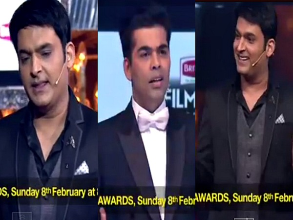 When Kapil Sharma Stole Karan Johar's Thunder At Filmfare Awards 2015!