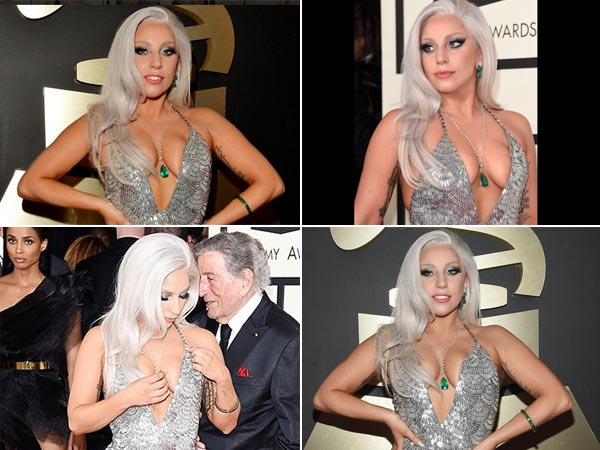 Lady Gaga Suffers Nip Slip Twice At Grammys, Mistakes Ed Sheeran As Waiter!