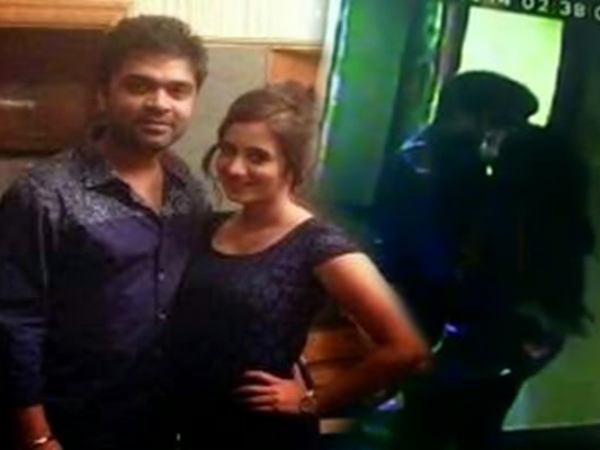 Actor simbu kissing harshika caught on cam 5