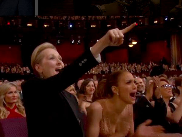Meryl Clapping Over Patricia's Speech