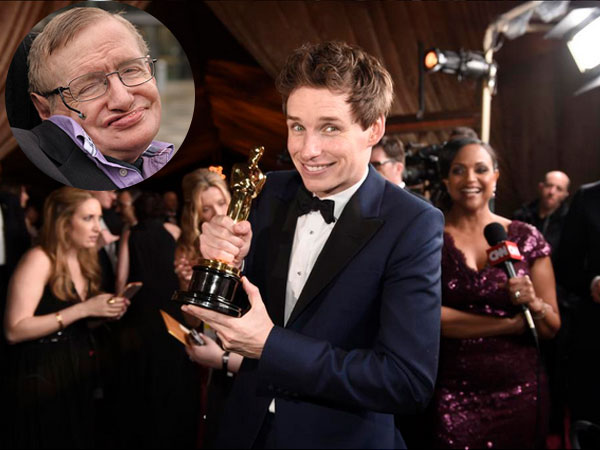 eddie redmayne stephen hawking wedding. stephen hawking congratulates eddie redmayne on oscar win wedding