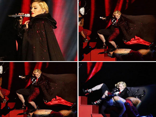 Brit Awards 2015: Madonna Falls Off Stage While Performing