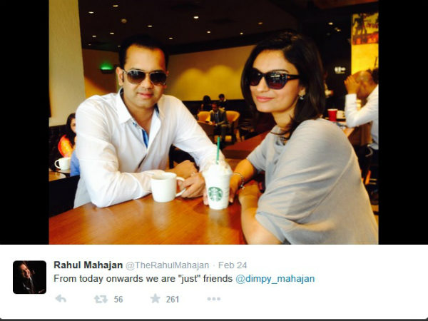 Rahul Mahajan Divorces Dimpy Ganguly; Declares They Are 'Just Friends'!
