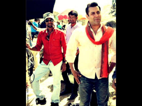 Salman On The Sets