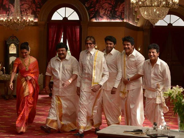 Manju Warrier With Big B And Southern Super Stars