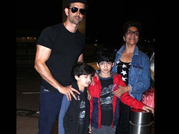 Hrithik With Kids