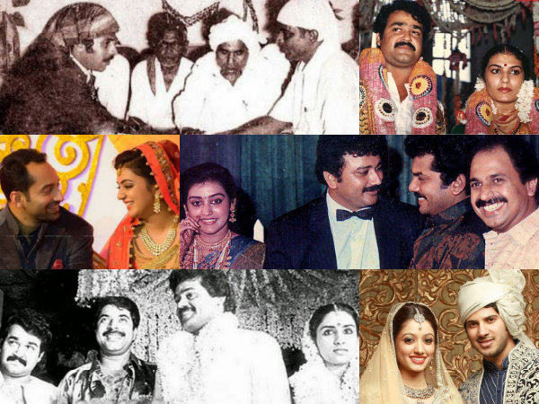 Malayalam Celebrity Wedding Photos Actors Mammootty Mohanlal Fahadh Faasil Dulquer Salmaan Filmibeat