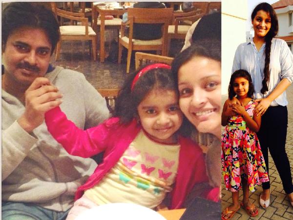 Pawan Kalyan-Renu Desai Celebrates Aadhya's Birthday ...