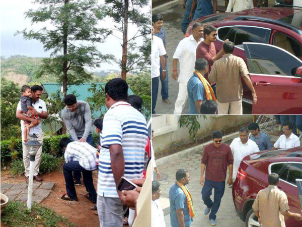 Puli Movie Shooting Spot Stills at Puli Shooting Spot