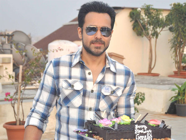 Emraan With Cake