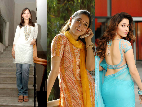 Tamannah Bhatia In Her Teens And Now