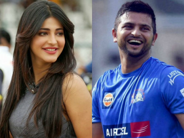 Shruti hassan dating chennai super kings suresh raina