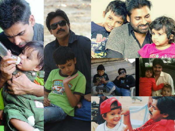 Pawan Kalyan With His Son and Two Daughters