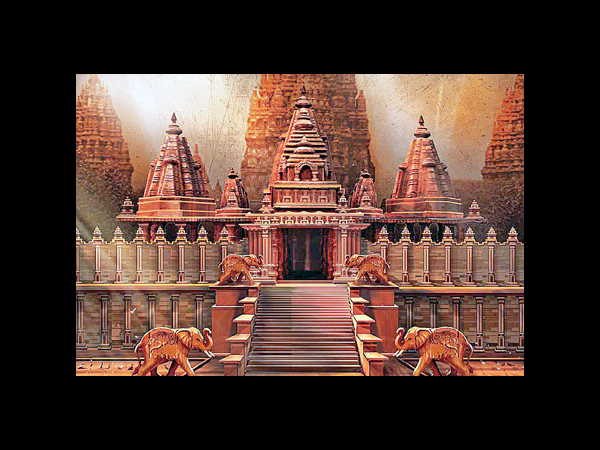 Temple Set In Baahubali