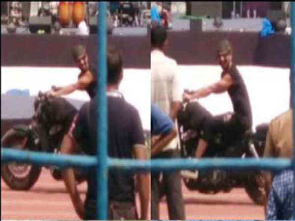 Shahid Kapoor On Bike