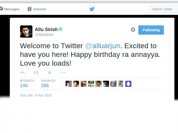 Allu Sirish Wishes Allu Arjun