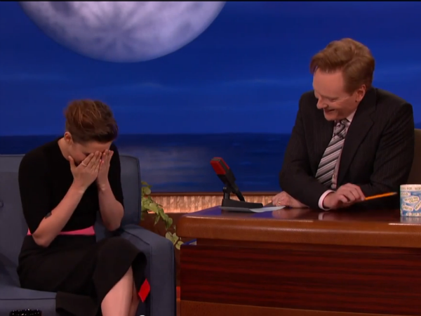 Watch: Kristen Stewart Mocks Justin Bieber At Conan Show