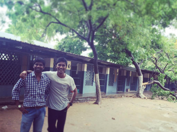 Check Out: What Dhanush Is Doing In His School?