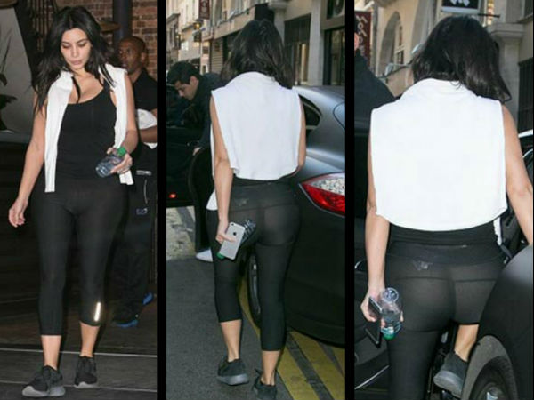 Kim Kardashian Suffers Malfunction, Shows Off Derriere After Workout