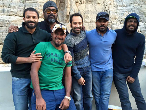 Fahadh And Jayasurya With Aashiq And Amal