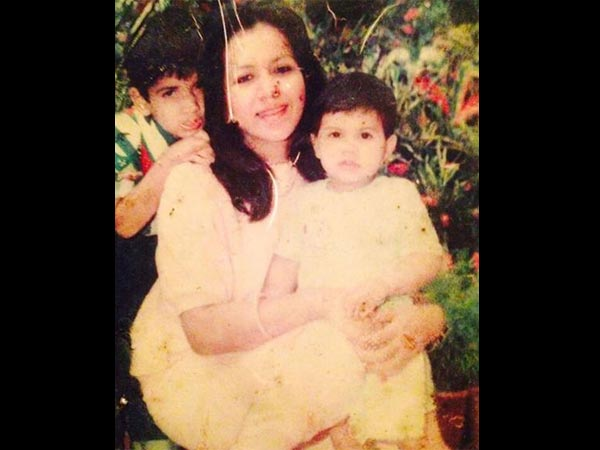 Varun With His Mom