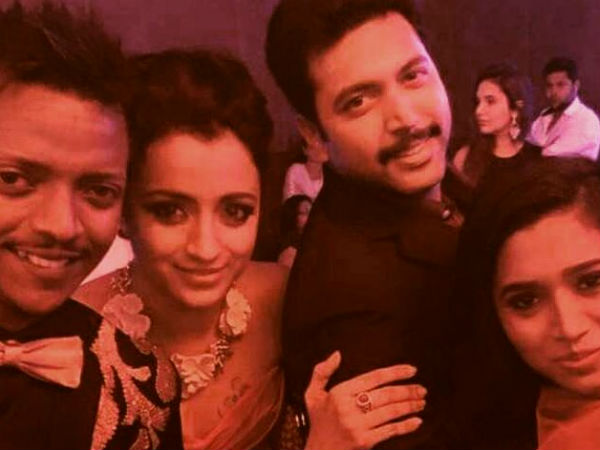 Trisha With Jayam Ravi
