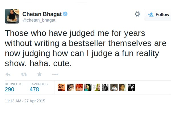 Chetan's Reaction To Bad Reviews