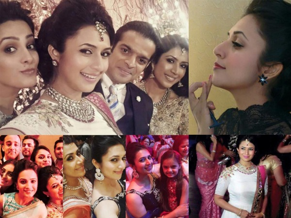 Divyanka Tripathi At Karan's Wedding
