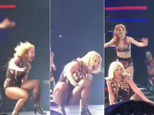 Britney Spears Says Her Onstage Fall Was 'Pretty Embarrassing'
