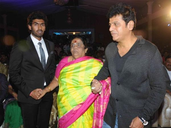 Vinay With Shivarjkumar And Parvathamma Rajkumar