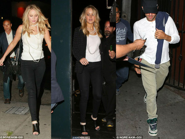 Jennifer Lawrence & Chris Martin Appear Together At Nepal Benefit In LA