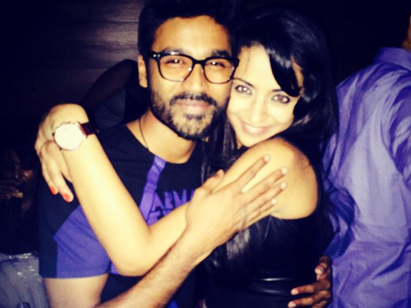 Trisha And Dhanush Partying Together