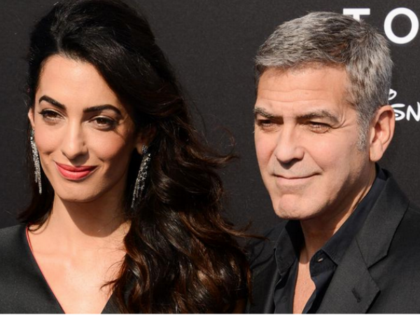 George Clooney Gushes About Amal At Tomorrowland Premiere, Kisses Her Hand!