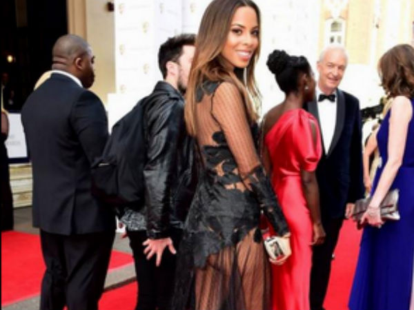 TV BAFTA Awards: Rochelle Humes Flashes Butt